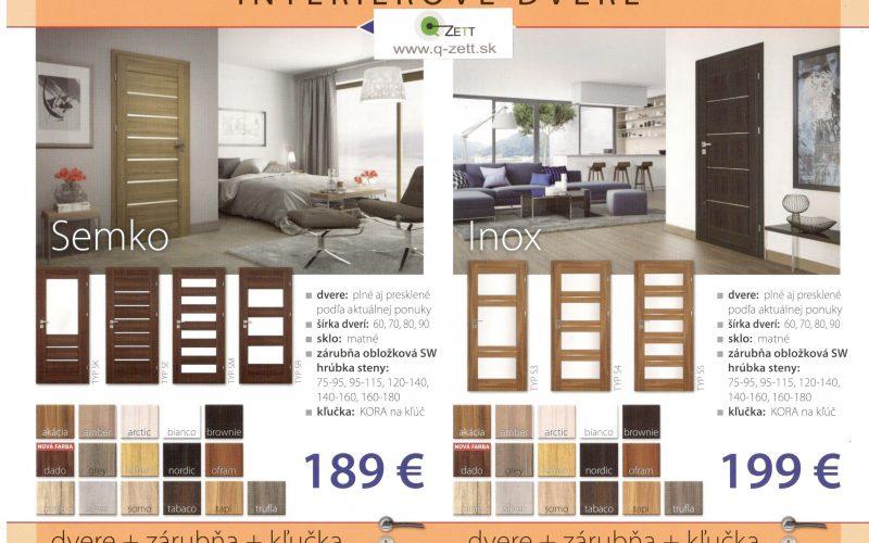 Dvere SEMKO + zárubňa + kľučka od 189€